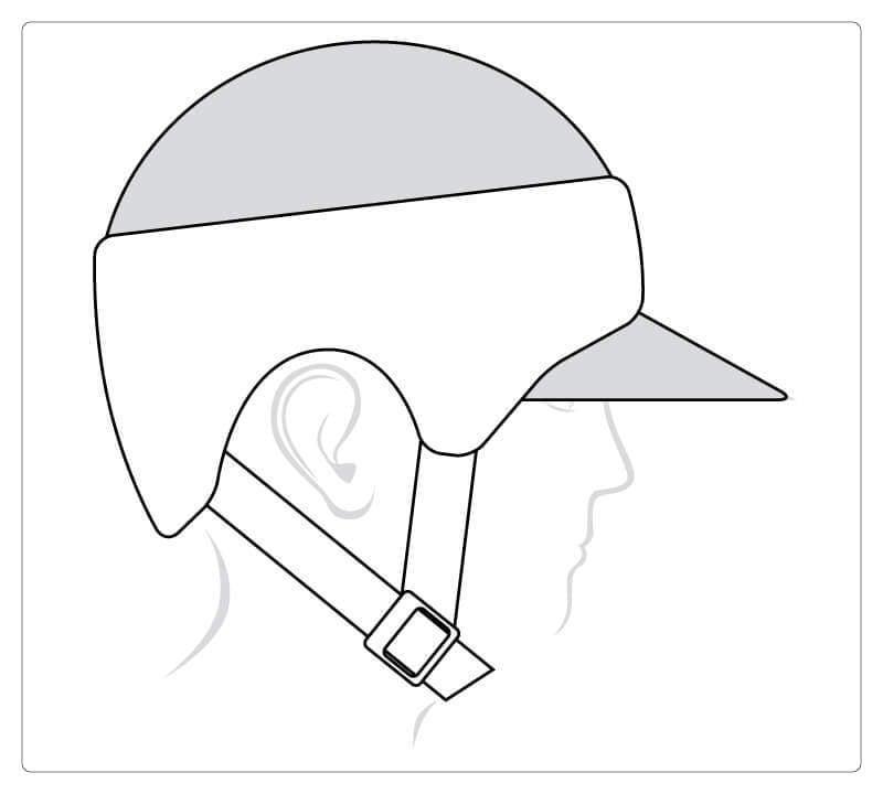 Sport (Schildkappe) mit geschlossener Oberseite