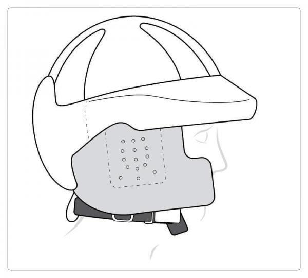 Mit Ohr- und Wangenschutz