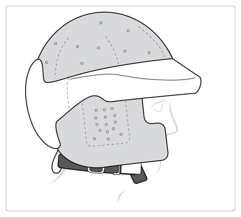 Oberseite geschlossen, mit Ohr und Wangenschutz