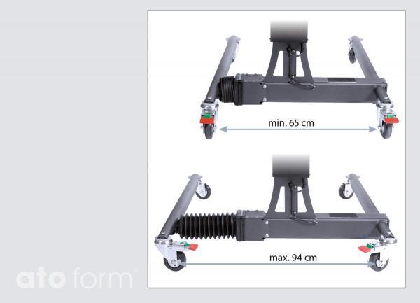 Hospi-Lift EE - Breitenverstellung Fahrgestell
