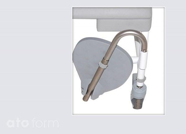 Dusch- und Toilettenstuhl M2 Zubehör - Fußstützen (verlängerte Ausführung)