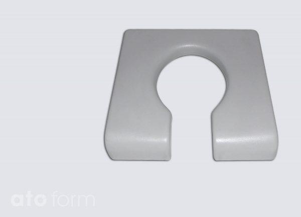 Dusch- und Toilettenstuhl M2 Zubehör - Sitzplatte mit Aussparung für die Intimpflege