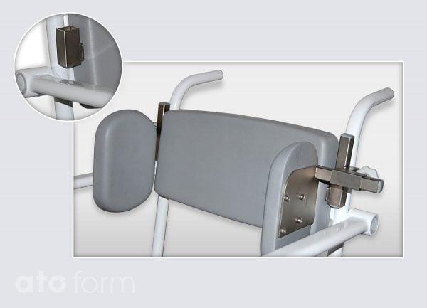 Dusch- und Toilettenstuhl M2 Zubehör - Seitenpelotte mit Aufnahme