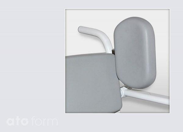 Dusch- und Toilettenstuhl M2 Zubehör - Seitenpelotte mit der langen Seite nach oben eingesetzt