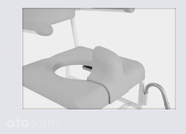 Dusch- und Toilettenstuhl M2 Zubehör - Spritzschutz für Sitzplatte mit Aussparung für die Intimpflege