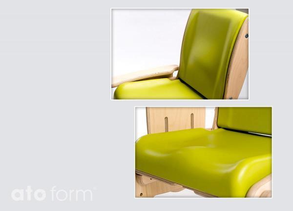 Juni - anatomisch gepolsterter Sitz und integriete Lendenwirbelstütze