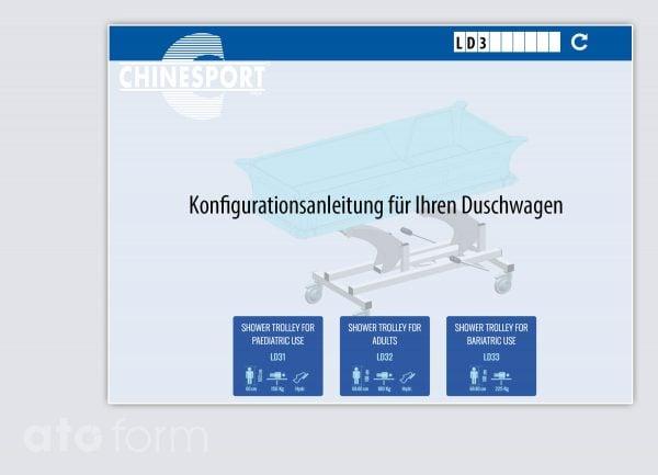 Duschwagen Konfiguration