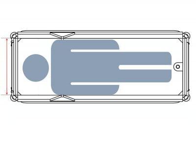 Duschwagen Fixe Schutzgitter