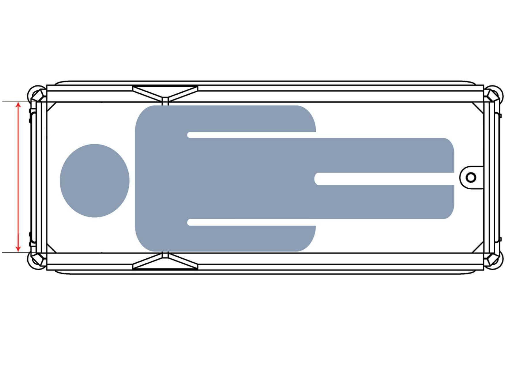 Duschwagen Konfiguration Liegefläche