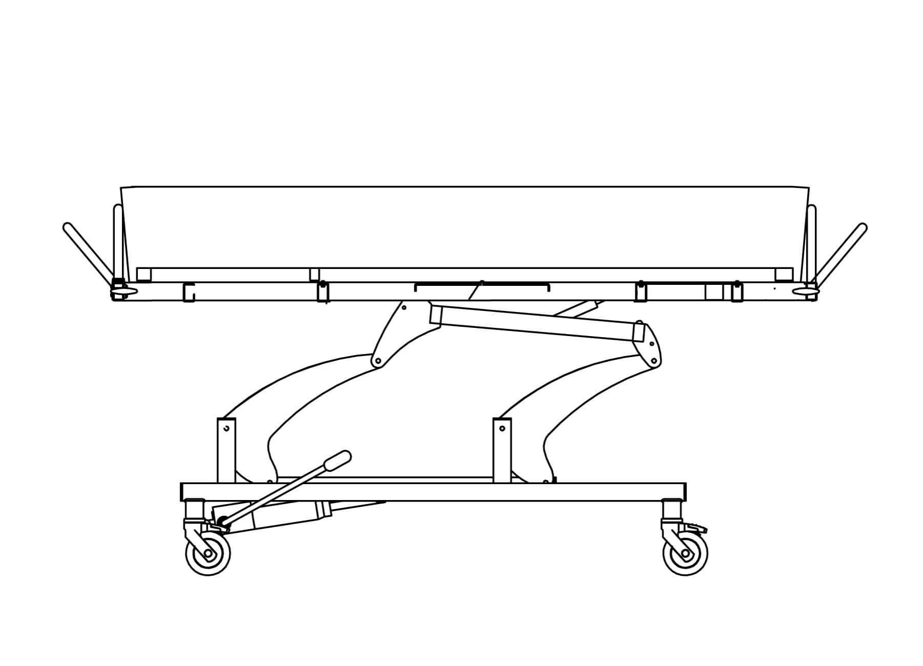 Duschwagen - fixe Schutzgitter