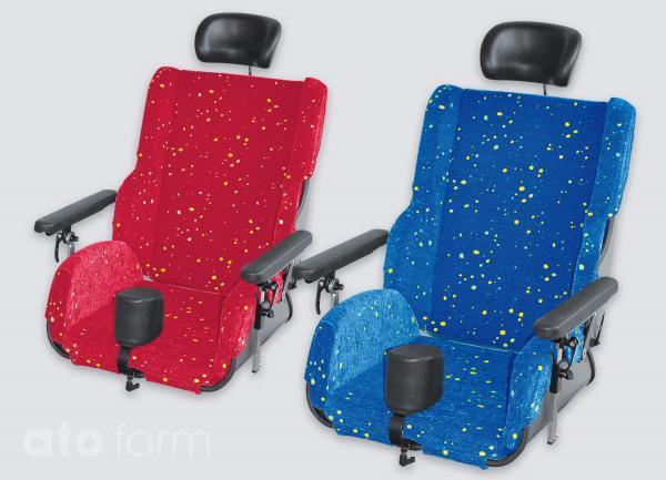 PHYSIO PUNKT Sitzschale mit Kopfstütze, Polstereinsatz, Bezug, Armlehnen und Abduktionskeil (Zubehör)
