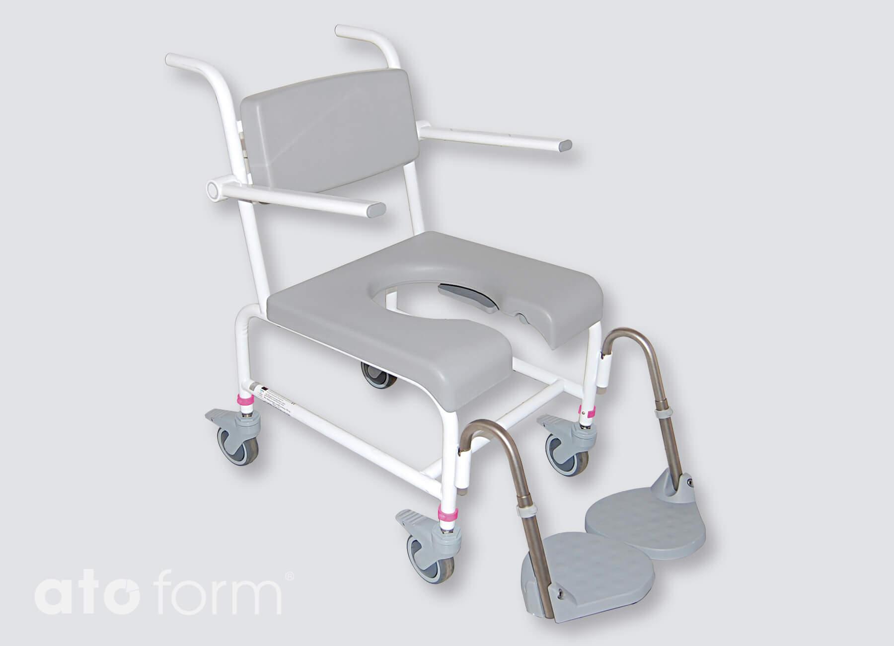 M2 Basic mit Schiebegriffen, Sitzplatte mit Intimausschnitt
