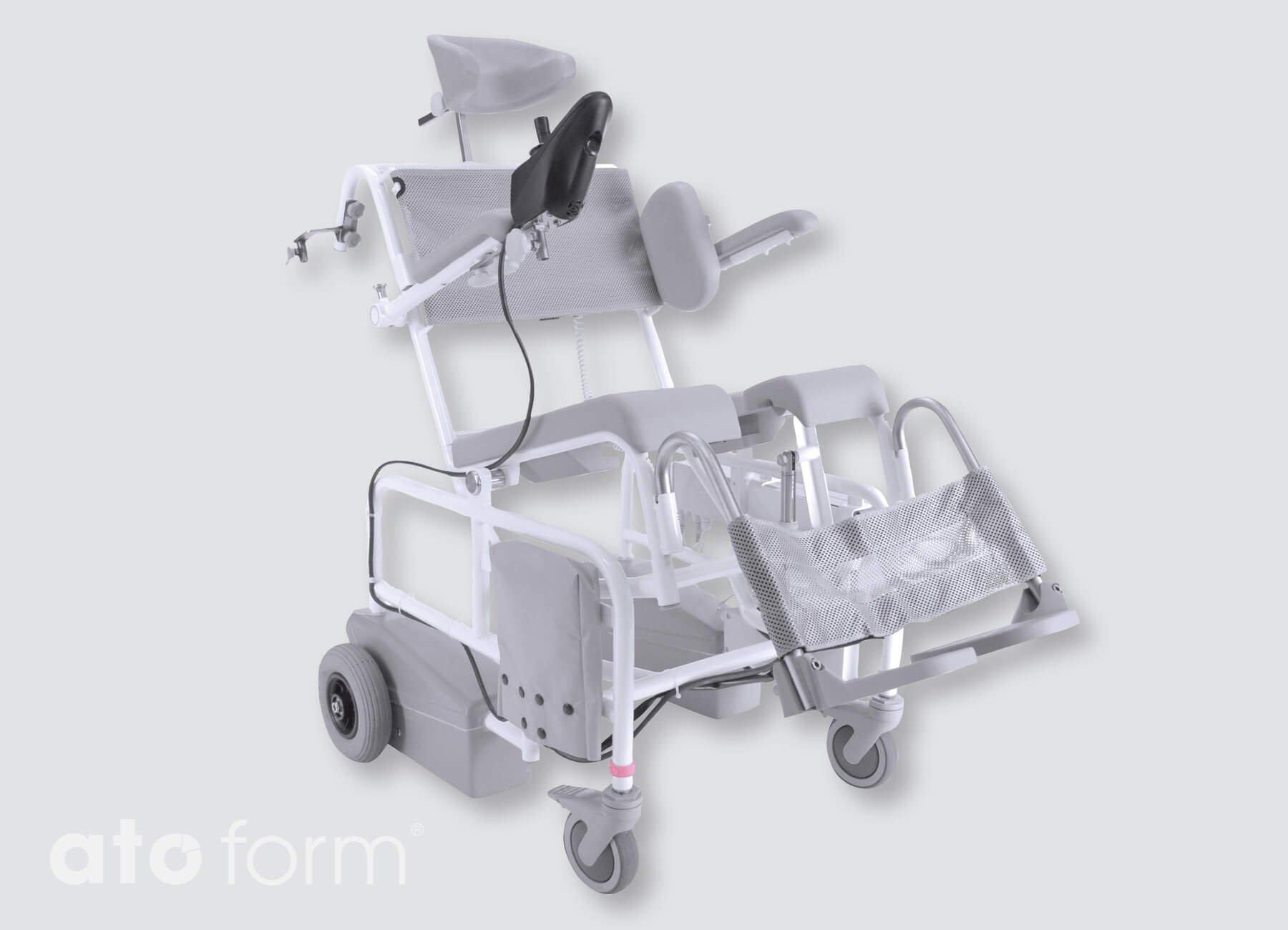 Dusch- und Toilettenstuhl M2 El Tip mit Joystick