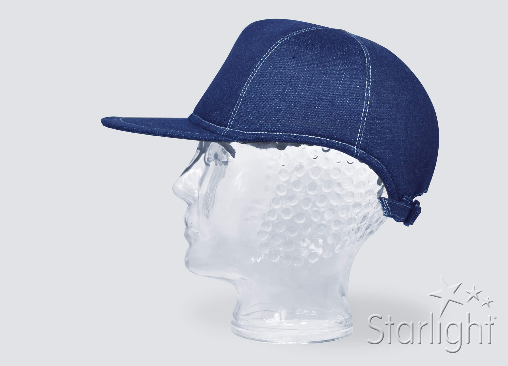 Starlight Generation Baseball cap Denim look with contrasted seam stitching (option)