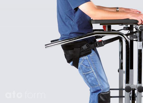 Raise up using a pressure relieving stand up belt