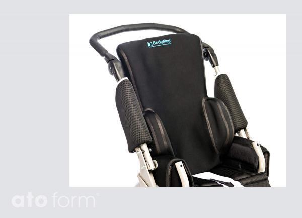 Vakuum-Rückenkissen BodyMap B+ - Einsatz im Buggy
