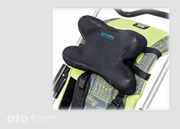 BodyMap Fixiergurt für Kopfstütze - Anwendungsbeispiel
