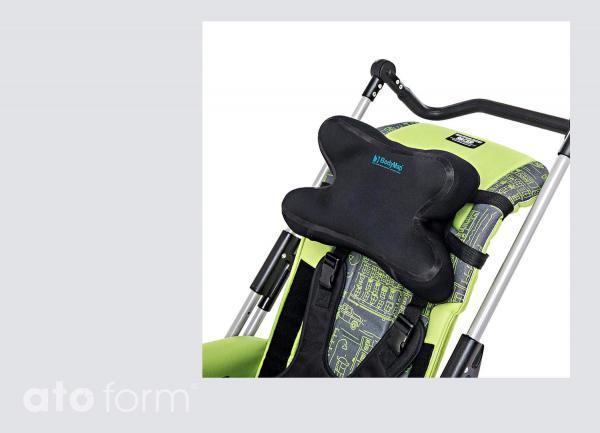 Vakuum-Kopfstütze BodyMap DX - Einsatz im Buggy