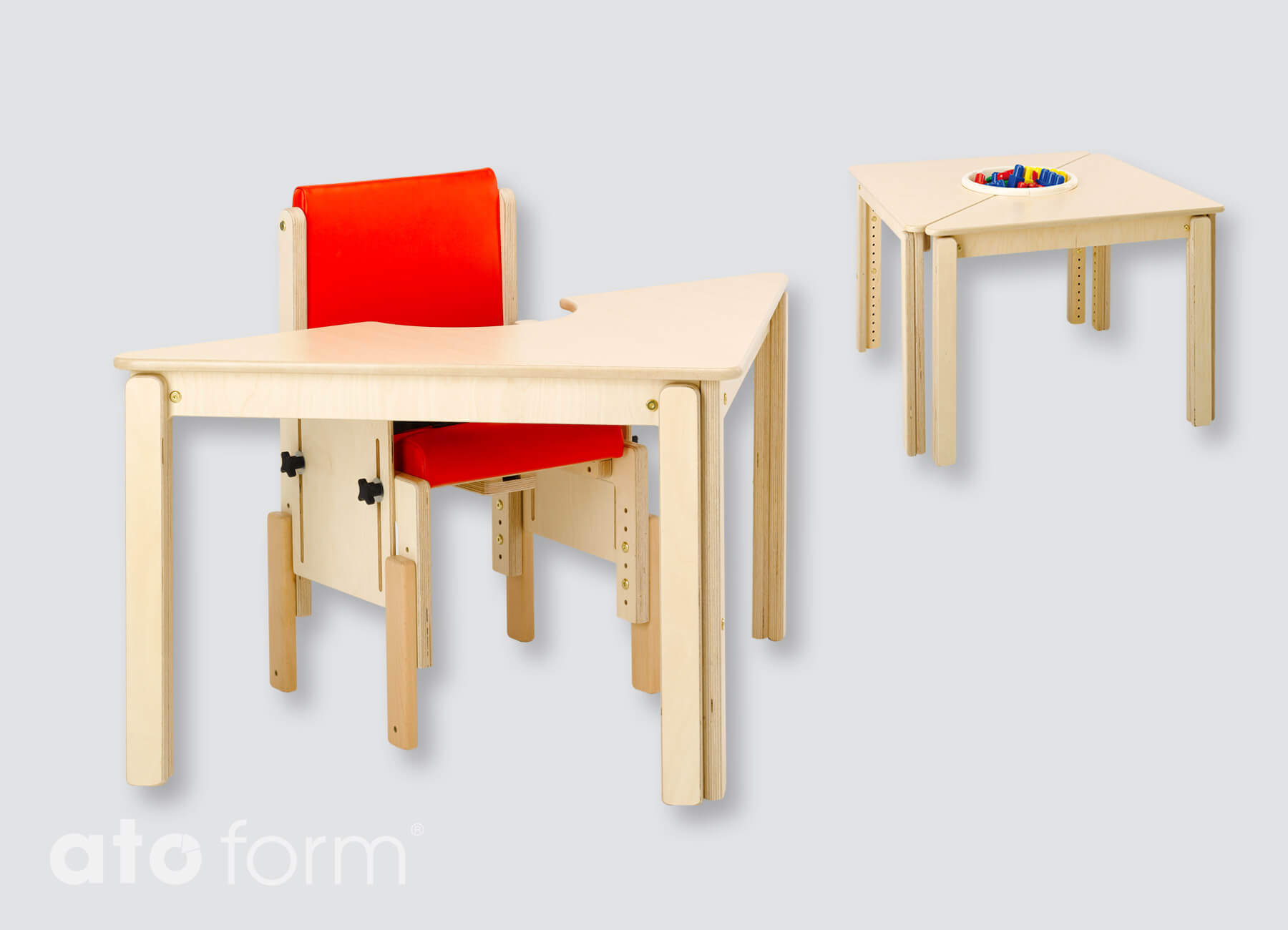 Kombi-Tisch dreieckig