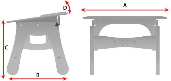 Technische Daten Kidoo Tisch