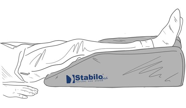 Braunschiene - Hochelagerung der Beine