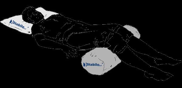 Knierolle - Entlastung des Lendenwirbelbereichs
