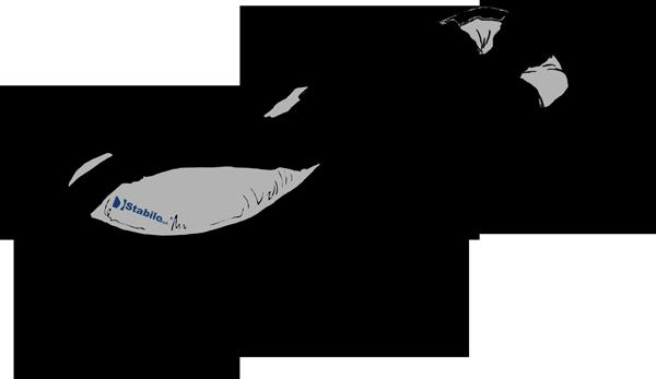 Lateral Positionierungskissen seitliche Rückenlage