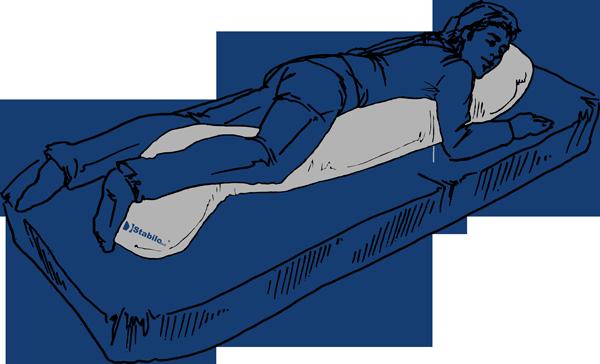 Lateral Positionierungskissen seitliche Bauchlage