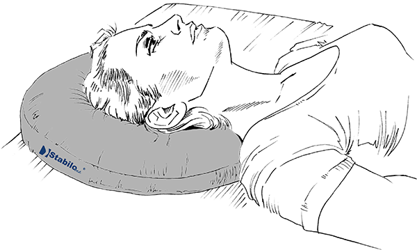 StabiloBed<sup>®</sup> Antidekubitus-Ringkissen Entlastung des Hinterkopfes