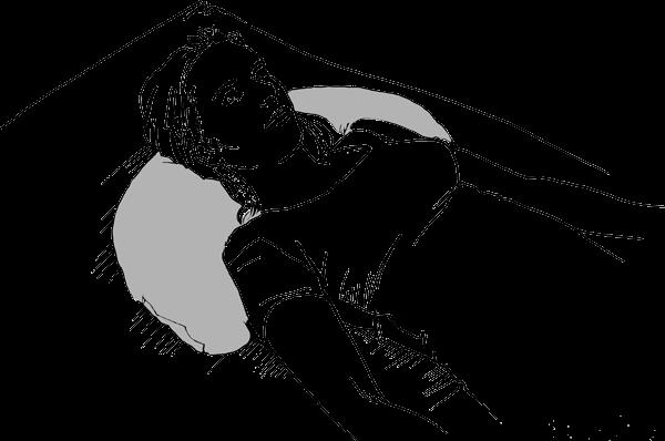 Halbmondkissen Kopflagerung in der Rückenlage