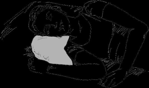 Halbmondkissen Kopflagerung seitlich