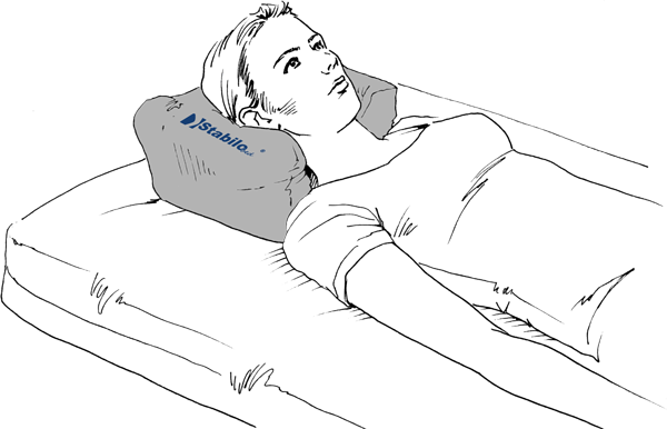 Kopfstütze - Anwendung in der Rückenlage