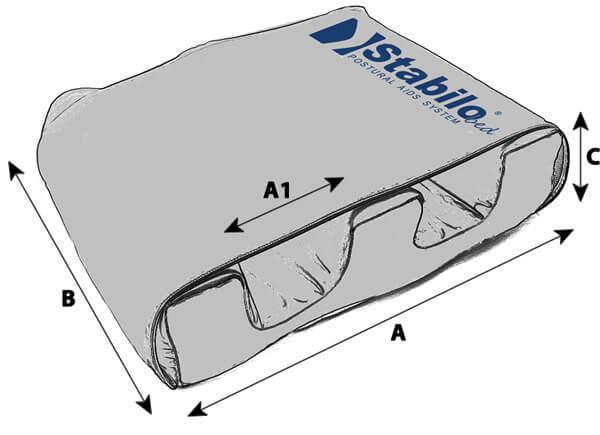 Technische Daten STABILObed® Beinbduktionskissen für Kinder