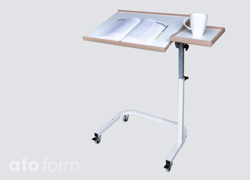 The Bed-Table Saale is particularly suitable to assist a bedridden person to read in an optimal posture.