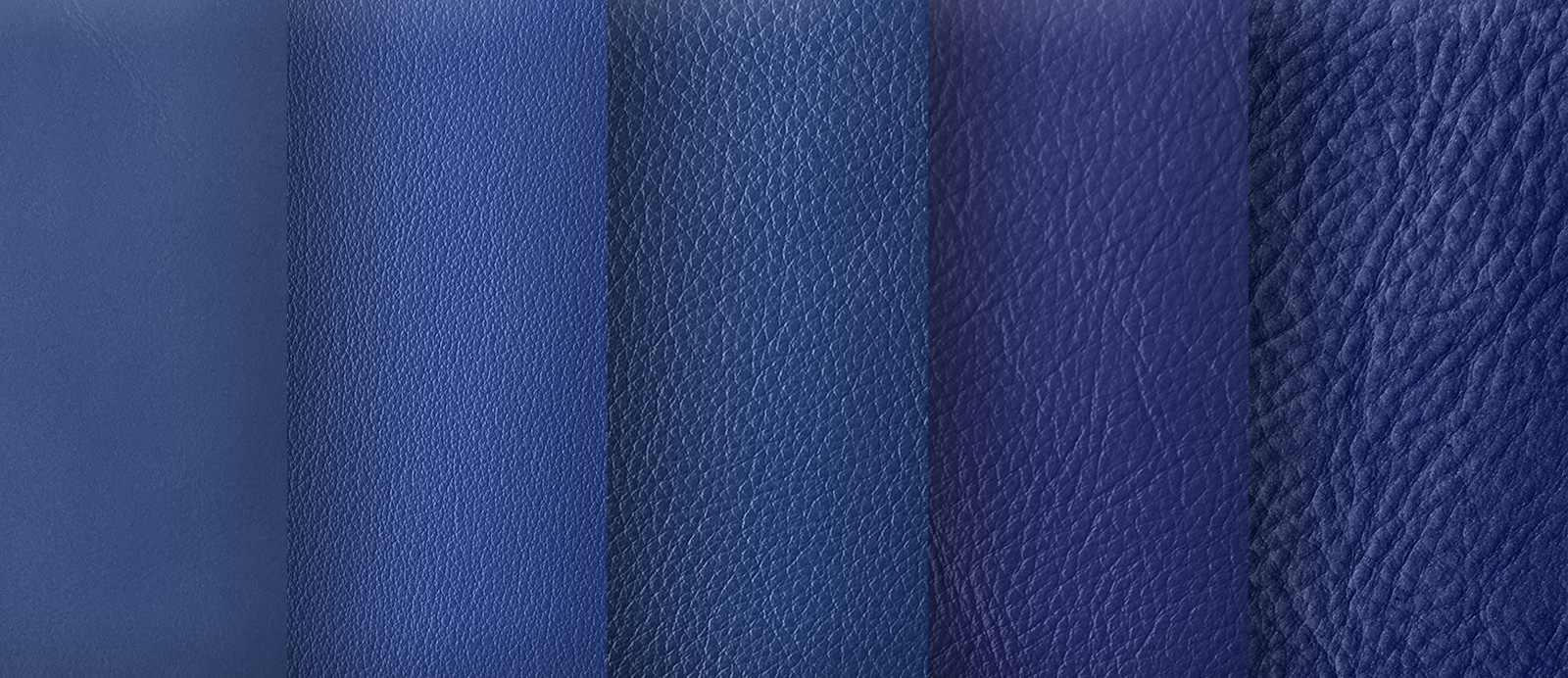 Struktur- und Farbnuancen Leder Blau