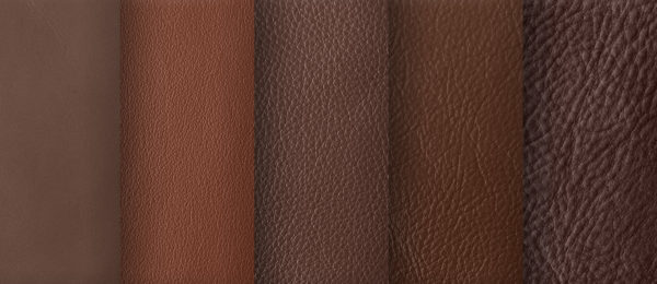Struktur- und Farbnuancen Leder Braun