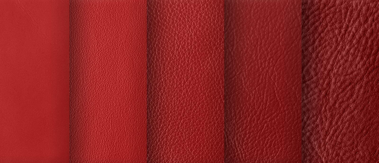 Struktur- und Farbnuancen Leder Rot
