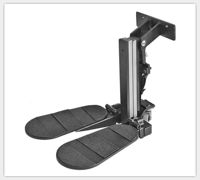 Fußstütze mit geteilter Fußplatte