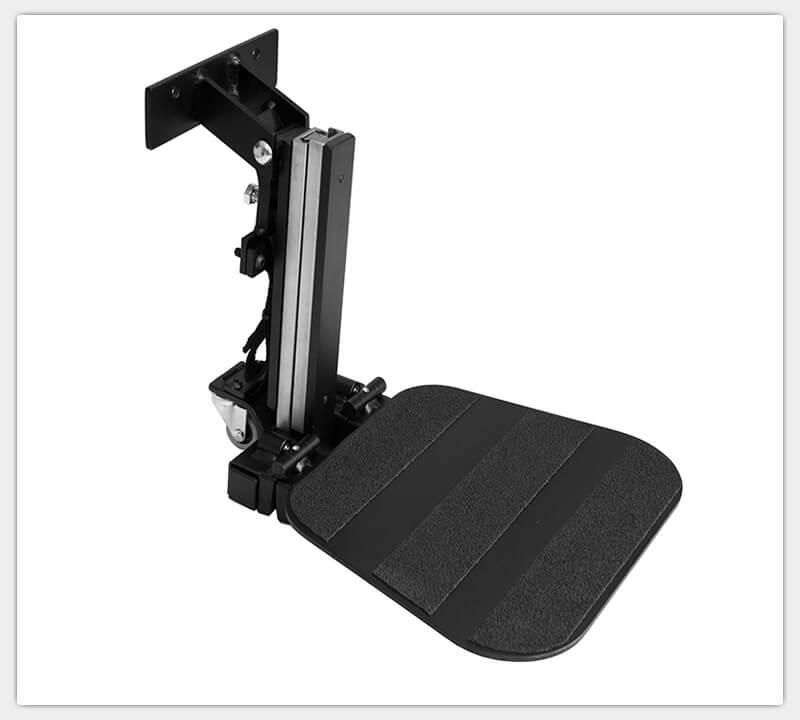 Teleskopfußstütze, durchgehende Fußplatte