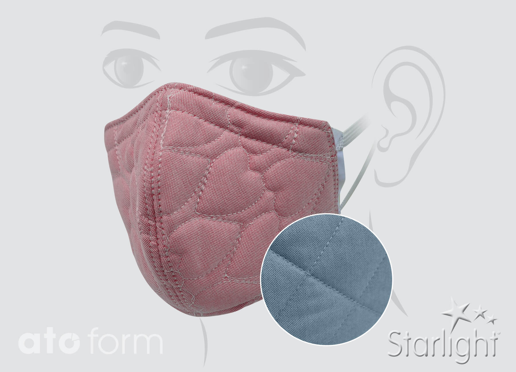 Face mask cotton quilted