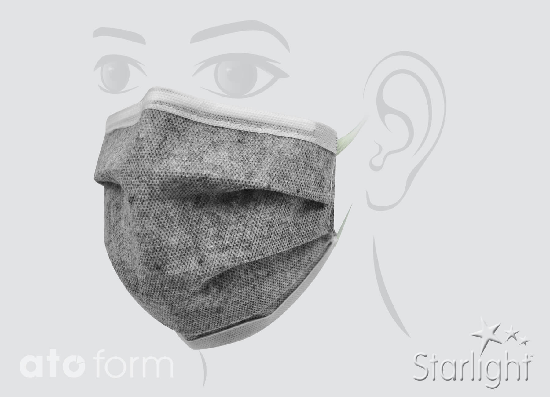 Face mask grey folded