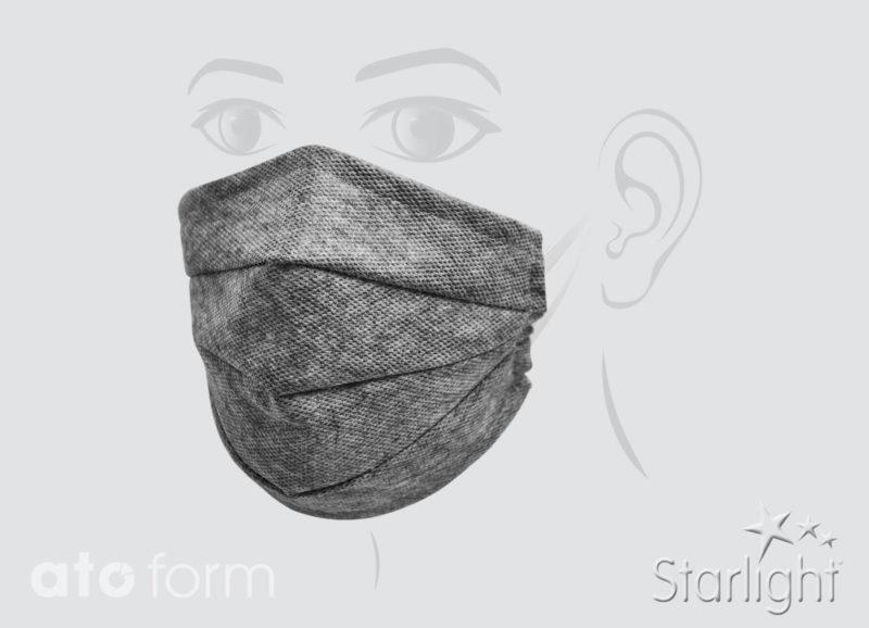 Mund-Nasen-Maske mit drei Abnäher