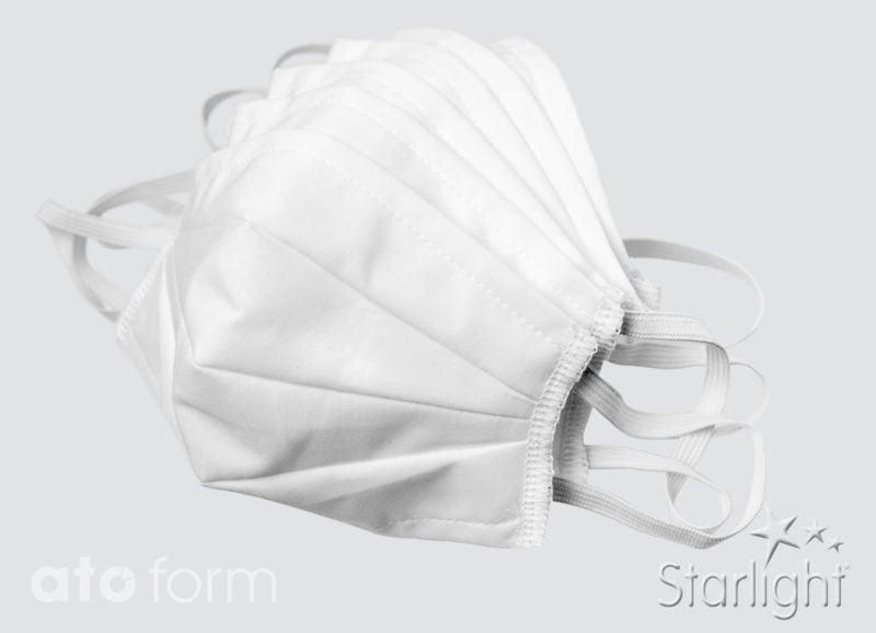 Mund-Nasen-Maske, Baumwolle weiß