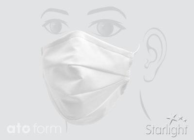 Mund-Nasen-Maske Baumwolle weiß
