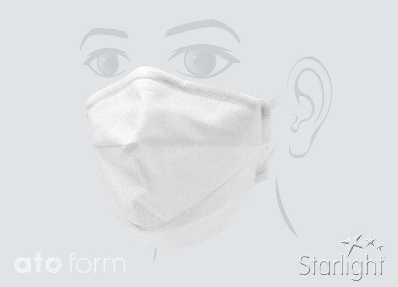 Mund-Nasen-Maske mit Abnäher weiß