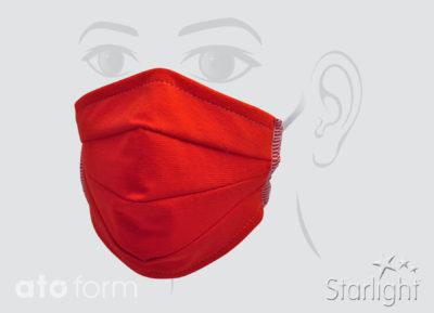 Mund-Nasen-Maske mit Abnäher Orange